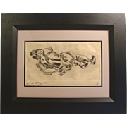 "William Horace Littlefield, 1927 "" Fallen Boxer "" Cape Cod Artist Massachusetts"