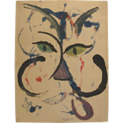 Edward Fish, Rockport Massachusetts Artist, Signed & Numbered Cat, 1959