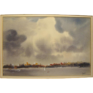 JWS Cox, Rockport MA Artist, Watercolor, Cape Ann Art Colony, New England School of Art