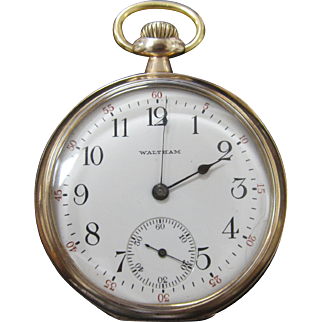 Antique 1919 Waltham Pocket Watch 16s 15j Gold Filled 20 Year Runs Great
