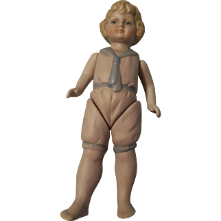 """7"""" All Bisque Shackman Doll"""