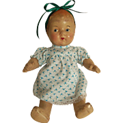 "Vintage All Composition 11"" Baby Doll"