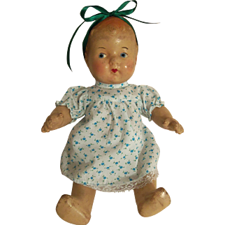 """Vintage All Composition 11"""" Baby Doll"""