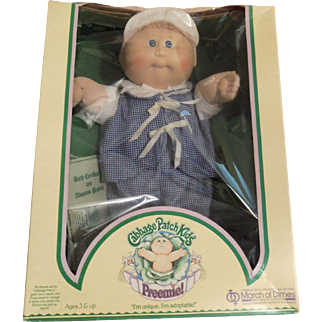 """1983 Cabbage Patch Preemie """"Lucas Cole"""" in Box"""