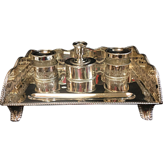 English 19th Century  Sheffield Plate Inkstand