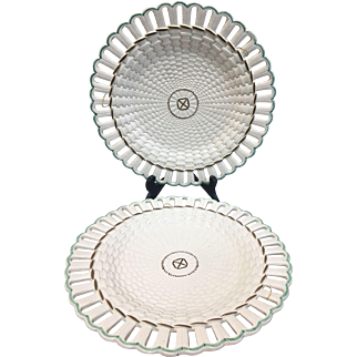 Pair Of 19th Century Wedgwood Decorative Creamware Plates
