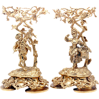 A pair of Victorian Gilded Sterling Table Compotes, Hunt & Roskell, late Storr & Mortimer, London