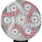 Antique Baccarat millefiori glass paperweight