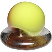 Antique New England Glass Company hollow blown apple paperweight.
