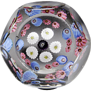 Antique Clichy faceted miniature paperweight.