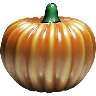 Orient & Flume orange pumpkin glass sculpture.