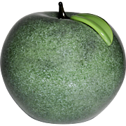 Orient & Flume green apple glass paperweight sculpture.