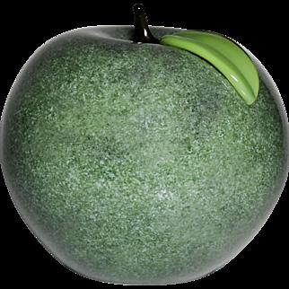 Orient & Flume green apple glass paperweight sculpture.