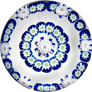 Parabelle Glass 1992 spaced concentric millefiori paperweight
