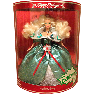 Happy Holiday Barbie, Special Edition, NRFB, 1995