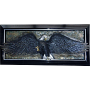 """Bill Mack, Bronze Relief Wall SCULPTURE Eagle """"Glory""""  Signed Large Deluxe Art"""