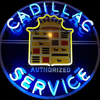 Cadillac Service Neon Sign