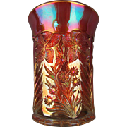 TIGER LILY - Imperial Marigold Carnival Glass Tumbler