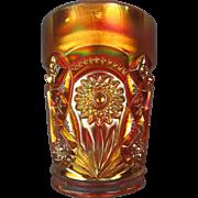 FASHION - Imperial Dark Marigold Carnival Glass Tumbler