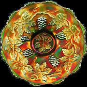 "VINTAGE - Fenton Green Carnival Glass 7½"" Plate"