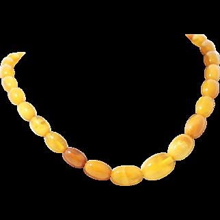 Vintage Baltic Amber Butterscotch Necklace