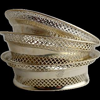 3 Sterling Silver Basket Dishes