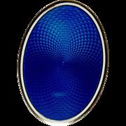 Electric Blue Guilloché Jar