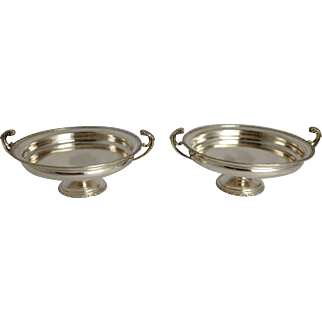 A Pair of Sterling Silver Dishes
