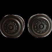 Pair of Bronze Centre Door Pulls