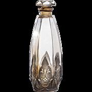Vintage Glass Commercial Perfume Bottle by Julien Viard for Isabey Chypre Celtic c.1924