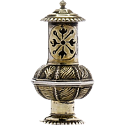 18th Century Continental Gilt Silver Scent Box Pomander or Vinaigrette