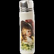 Antique English Porcelain Scent Bottle With Portrait c.1906