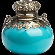 Opaline Glass Vinaigrette Scent Bottle Pendant English c.1880