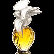 Nina Ricci L'Air du Temps 8 Fl Oz Parfum in Lalique Doves Perfume Bottle c.1970
