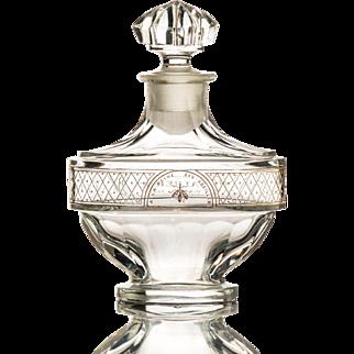 Vintage Perfume Bottle by Baccarat for Parfumerie Violet Valreine c.1911
