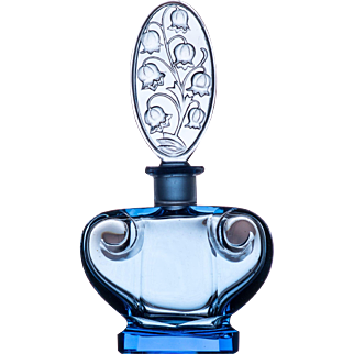 Czech Glass Scent or Perfume Bottle by Ingrid c.1934