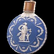 Antique Scent or Perfume Bottle Wedgwood Pale Blue Solid Jasperware c.1785