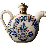 Teapot Form Porcelain Scent or Perfume Bottle 19th Century European