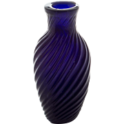 Blown Ribbed Glass Scent or Pungent Bottle 19th Century America or England