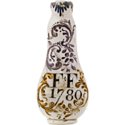 Milk Glass Antique Scent Bottle England 1780
