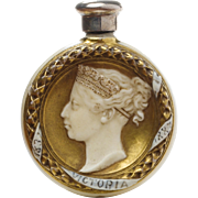 Antique Scent Bottle by Royal Worcester for Queen Victoria's Jubilee England 1887