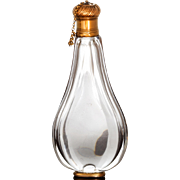 Gold Mounted Antique Teardrop Perfume Bottle France 18th Century