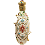 Antique Porcelain Scent or Perfume Bottle by Zsolnay Hungary 19th Century