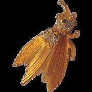 Unsigned Hattie Carnegie  Trembling Fly Pin