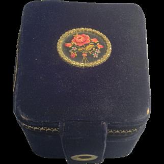 Velvet embroidered box marked Rosenfeld Israel