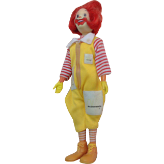 1970s Remco Ronald McDonald Doll 8 inches tall