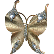 Beautiful Vintage Signed Trifari Butterfly Pin