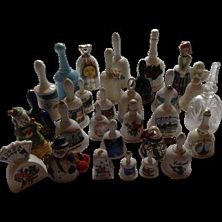 Lot of vintage 31 porcelain and ceramic bells