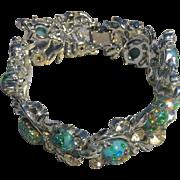 Vintage signed Coro Pegasus robins egg bracelet