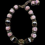 Vintage Czech and Venetian Glass beaded Choker necklace